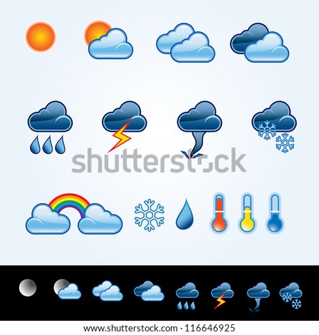 vector icons for weather forecast