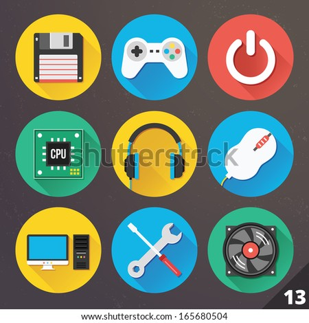 Vector Icons for Web and Mobile Applications Set 13