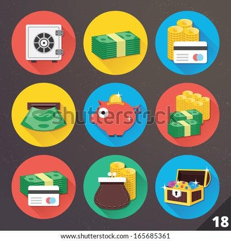 Vector Icons for Web and Mobile Applications. Set 18.