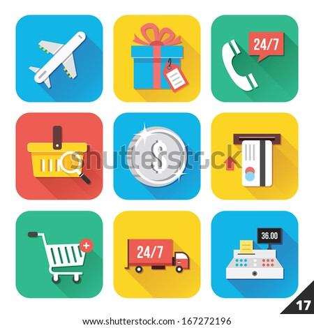 Vector Icons for Web and Mobile Applications Set 17