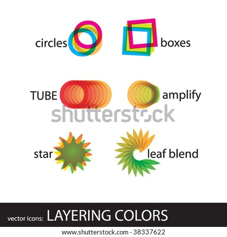 vector icons: layering colors