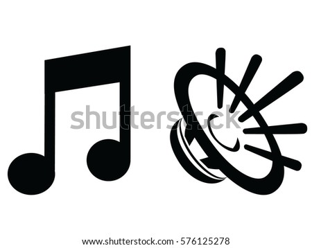 vector icons music