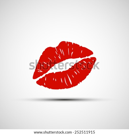 vector icons of female lips