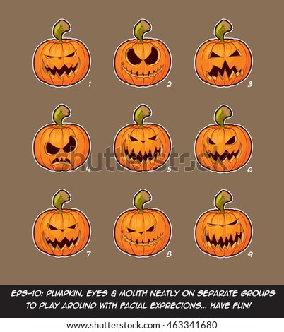 vector icons of jack o lantern