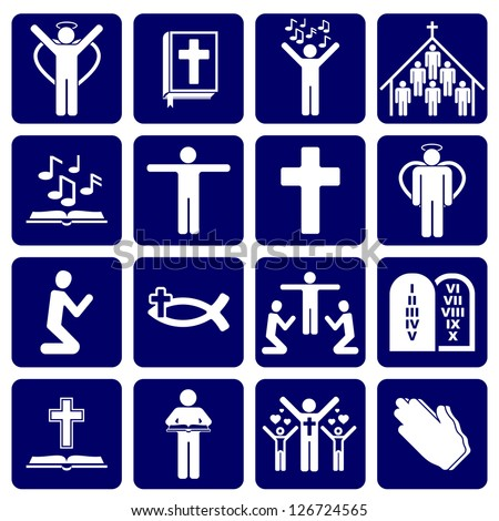 vector icons of religious