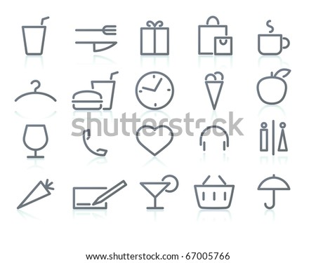 Vector icons of  shopping and lifestyle items