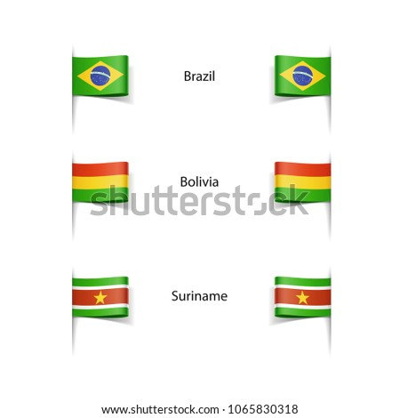vector icons of world flags