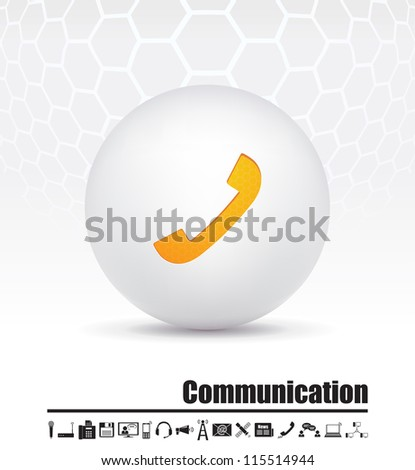Vector icons on the theme of communication