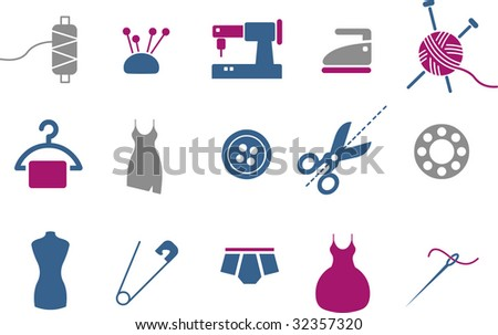 Vector icons pack - Blue-Fuchsia Series, taylor collection