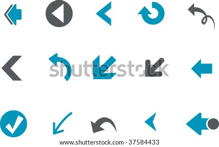 Vector icons pack - Blue Series, arrows collection