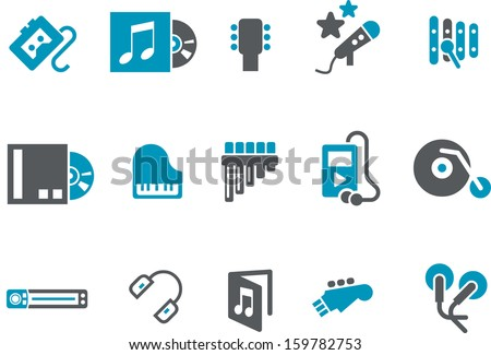vector icons pack   blue series ...