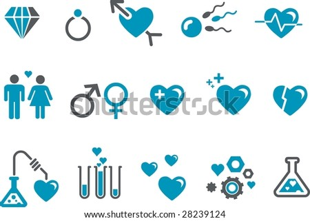 Vector icons pack - Blue Series, s.valentine collection