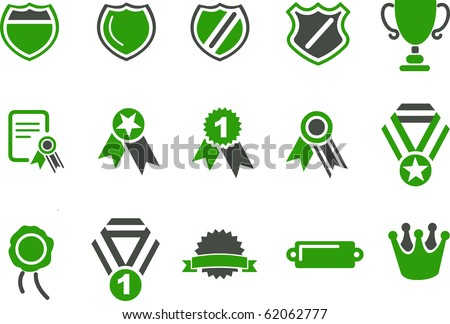Vector icons pack - Green Series, badges collection