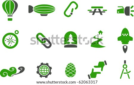 vector icons pack   green