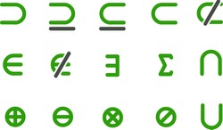 Vector icons pack - Green Series, math collection
