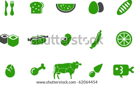 Vector icons pack - Greene Series, kitchen collection