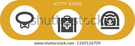 vector icons pack of 3 filled