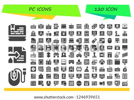 Vector icons pack of 120 filled pc icons  Simple modern icons about
