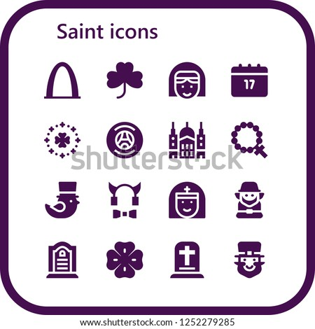 056cf8533 Vector icons pack of 16 filled saint icons. Simple modern icons about -  Gateway arch