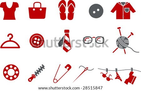 vector icons pack   red series