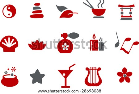 Vector icons pack - Red Series, zen collection