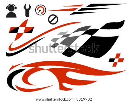 Auto Graphic Racing on Vector Icons Related To Speed And Racing   3319932   Shutterstock