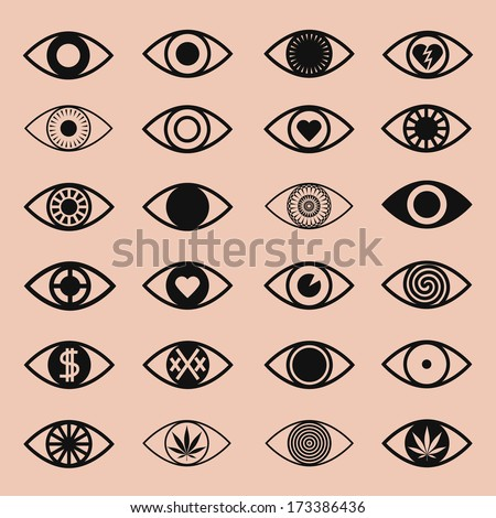 vector icons set different eye