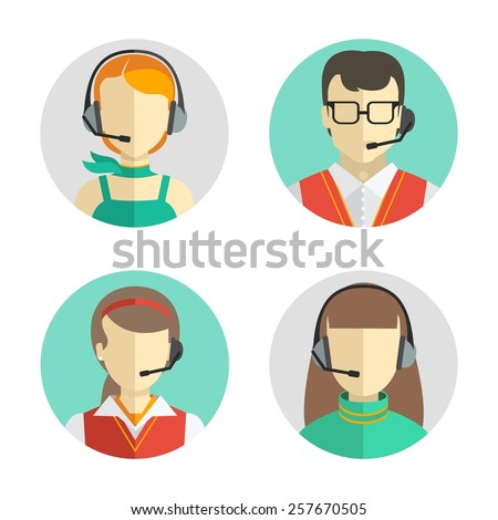 vector icons set  male and