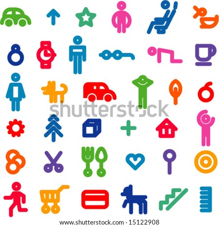 vector icons set of 36