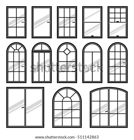 413836636 Shutterstock Collection Of Vector Windows Types on slow home design