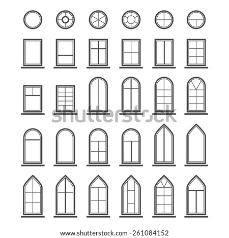 vector icons set of different