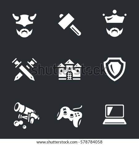 vector icons set of tank video