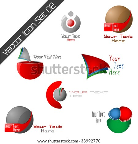 Vector icons template Set 2. Please visit my gallery for more!