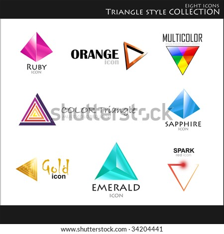 Vector. Icons. Triangle style collection