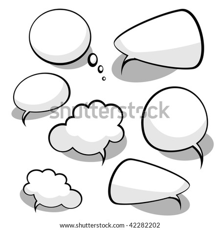 Vector Idea Bulbs. Chat Bubbles - stock vector