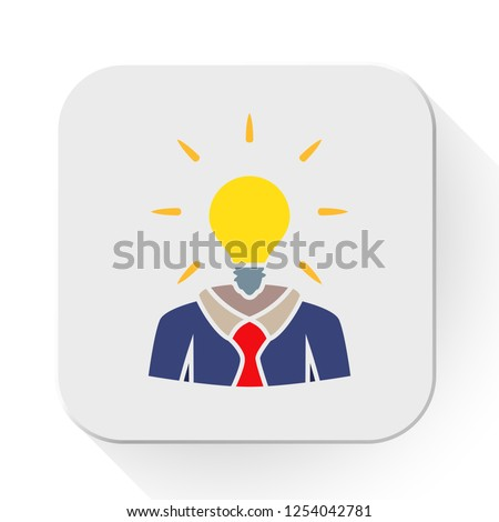 vector idea concept. Flat illustration of creative idea. lightbulb innovation isolated on white background. solution sign symbol. bright solution icon