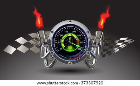 vector illuminated speedometer