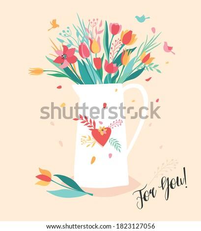 vector illustation of flower in