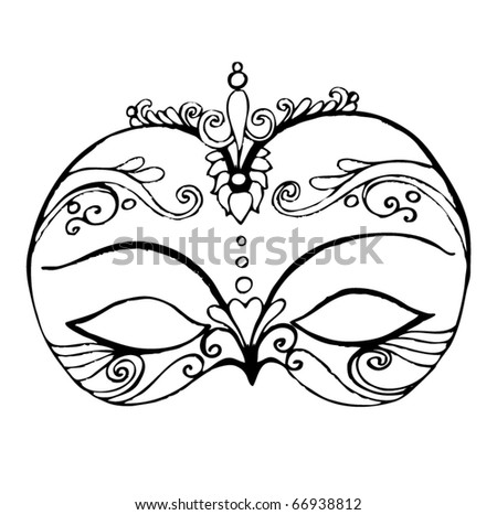 vector illustrated abstract mask for your carnival design