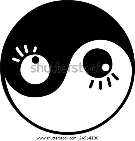 vector illustrated yin and yang
