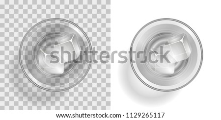 vector illustration a glass