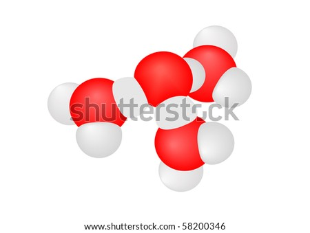 Vector illustration a molecule with atoms on a white background