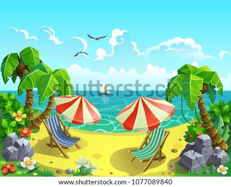 vector illustration a resort