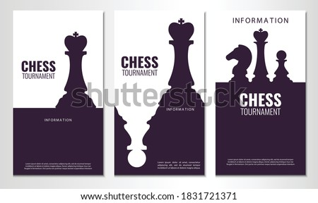 Vector illustration about chess tournament, match, game. Use as advertising, invitation, banner, poster  Photo stock ©