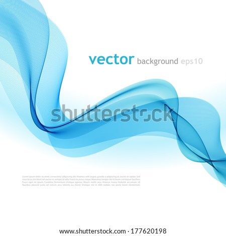 Vector illustration Abstract colorful background with blue smoke wave