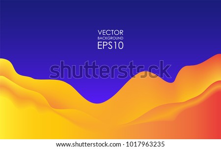 Vector Illustration: Abstract dynamic wavy Background. Modern cover template