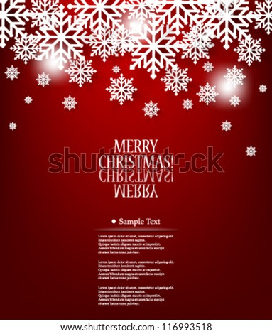 Vector illustration abstract elegant Christmas Background Design - eps10