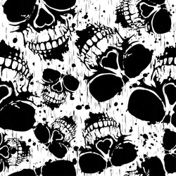 Vector illustration abstract grunge background with skulls for cloth or card
