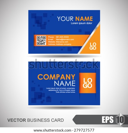 Vector illustration, Abstract professional and designer business card template or visiting card set #279727577