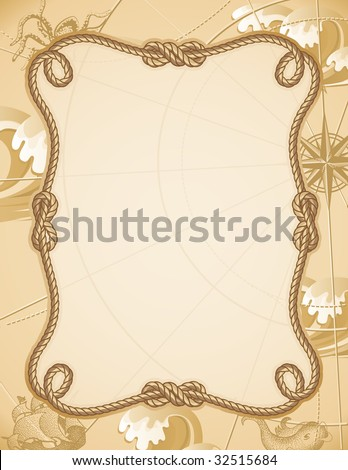 Vector illustration - abstract sailing knot frame